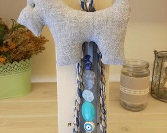 Baby Lucky Charm/Evil Eye Protection/Linen Fabric Scottish Dog/Newborn Gift /Baptism Gift/Baby Gift/Baby Shower Gift/Nursery Room Decoration