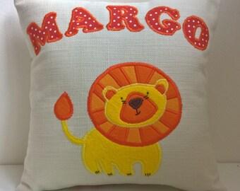 Personalised Lion Cushion