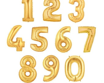 16 Inch Golden Foil Balloon Numbers