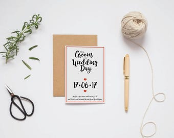To my Groom / Bride on our wedding day
