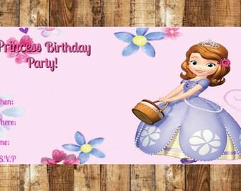 Invitación fiesta de cumpleaños ~ Soohia la primera invitación fiesta de cumpleaños ~ invitación Digital ~ Sofía la primera ~ cumpleaños invitación ~ Sofía Bday ~ ~ ~