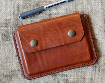 "Leather Cover For Moleskine Notebook ""Eliot"""