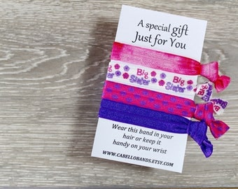 Big Sister Gift - Gift for Girl - Hair Ties - Friendship Band - Elastic Hair Band - Beauty Pageant Gift - Sister Gift