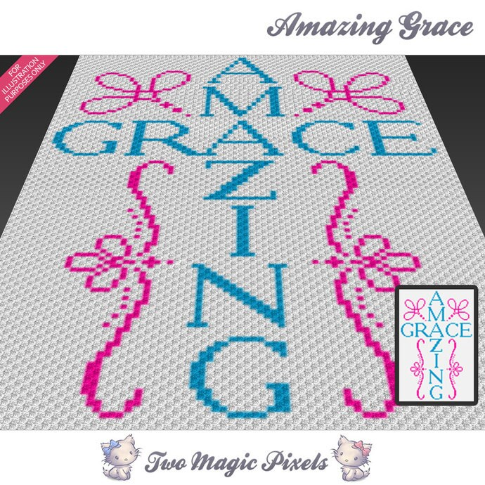 Amazing Grace Crochet Blanket Pattern C2c Cross Stitch