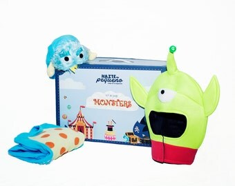 KIT OF MONSTERS costume and accessory's guise of monsters (1 child + 1 adult)