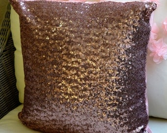 Brownish sequin pillowcase, cushion cover