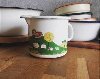 Enamel jug (the cutest thing ever)