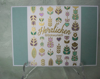 Greeting card, greeting card, birthday card for him and her