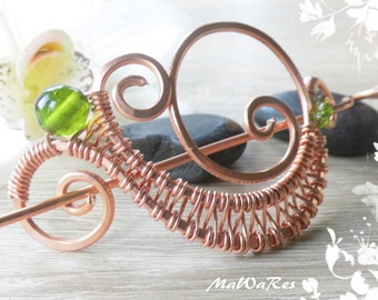 "Copper spirals ""green"""