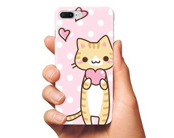 Cat iPhone 7 plus case iPhone 7 case Kawaii phone case iPhone 6s case kitty iPhone cover iPhone 6 kitten iPhone 5 Samsung S7 edge case phone