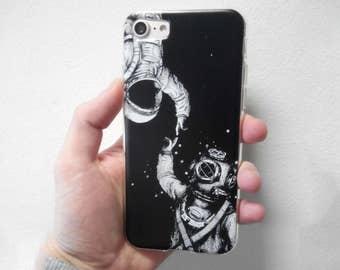 Astronauts space case Samsung galaxy S7 Edge Plus case iPhone 8 astronauts black case iPhone 6s case iPhone 7 Plus case iPhone 7 case