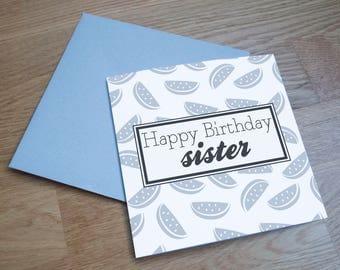 Eco Friendly Birthday Card - Sister