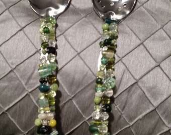 Beaded Serving Spoon