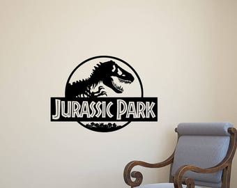 Jurassic Park Decal Etsy - Custom vinyl wall decals dinosaur