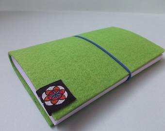 COOL FUNKY NOTEBOOK Fluorescent Bright Green Lightweight Pocket Writing Booklet