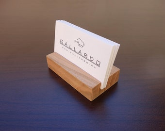 Wood Business Card Holder. Wooden Card Holder. Wood Business Card Stand. Wooden Card Holder. Office Card Display. Personalized Card Holder.