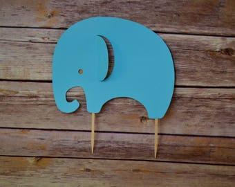 Elephant cake topper- elephant baby shower- little peanut baby shower