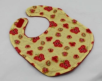 Red and Green Butterflies bib