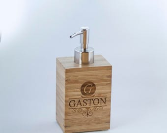 Personalized Bamboo Soap Dispenser