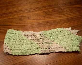 Thai Light Green Crochet Scarf
