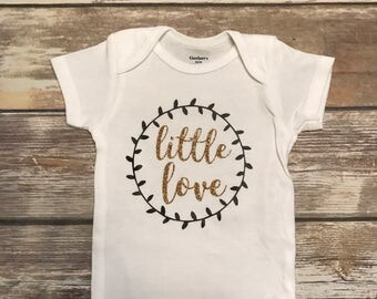 Little Love Baby Onesie | Baby Girl Onesie | Baby Girl BodySuit