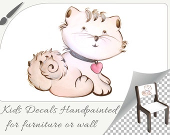 Embroidery hand painted furniture