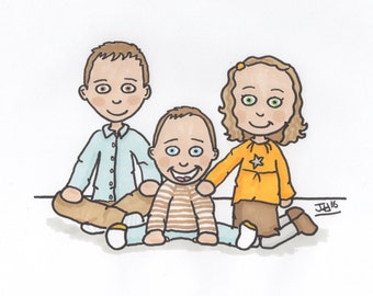 "Family portrait ""comic way"""
