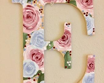 Floral Wooden Letter