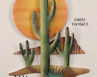Southwest Setting Sun Metal Art - CA031