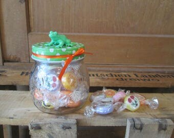 Candy jar with animal figure