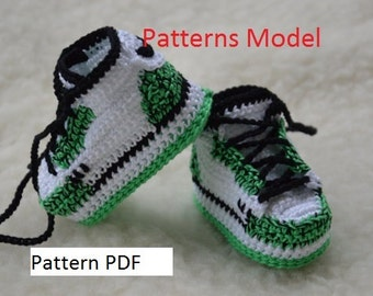 Crochet Jordans : CROCHET PATTERN Nike Air Jordan 1 Crochet adult by HouseSneakers