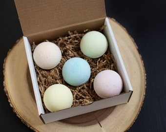 Mixed Box of Bath Bombs made with essential oils