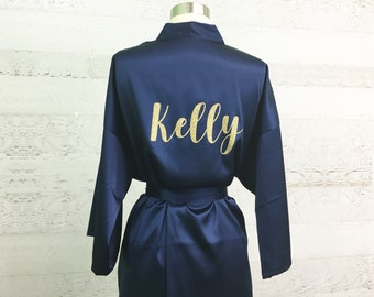 Bridesmaid Robes, Bridesmaid Proposal, Glitter Personalized Robe / Bridesmaid Robe / Bridal Robes / Wedding Satin Robes / CL SOL