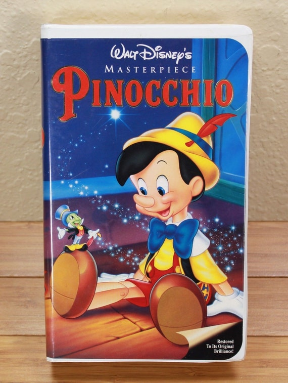 Items similar to PINOCCHIO VHS Masterpiece 1993 Vintage ...