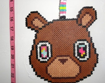 Custom Kanye West Bear Rave Kandi Necklace