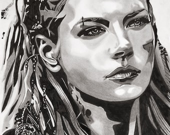 SOLD Lagertha - Vikings TV Series (Original Artwork)