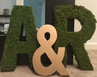 Moss Covered Letter -14 inch