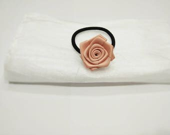 Rose/ Flower Hair Tie, Girl's Hair Tie, Elastic Hair Tie, Ponytail Tie, Hair Accessory, Hair Band, Gift, Christmas, Birthday, Wedding