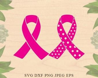 Awareness Ribbon SVG File Cutting Template breast cancer ribbon svg ribbon Clip Art Cricut downloads Cameo Silhouette designs ribbon