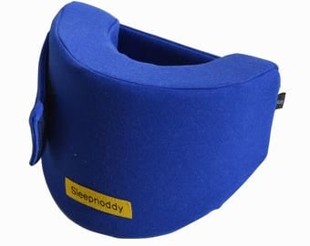 Sleepnoddy - Royal Blue travel pillow. Unique design, perfecr for long plane trips.