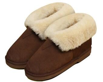 Lambskin slippers brown