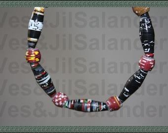 Paper Bead Bracelet unisex #221 and #222