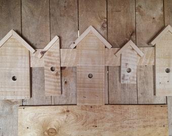 Rustic Birdhouse Wall Hanging