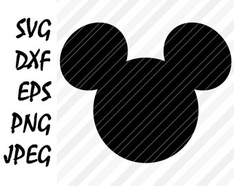 Mickey Mouse SVG DXF Eps Png Vector Cuttable File Cricut Cameo Silhouette Die Cut Vinyl Cut File Screen Printing Disney Printable Design