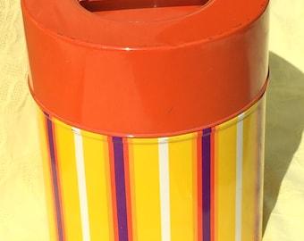Vintage Stripes Canister