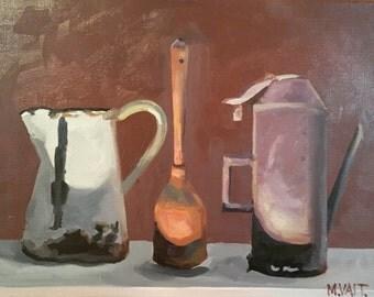 "Original fine art, wall decor, oil painting, realistic painting, still life painting: Still life I 12""x16"""