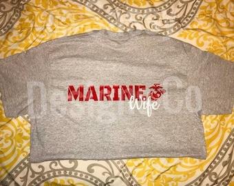 Marine Wife Short Sleeve Tshirt
