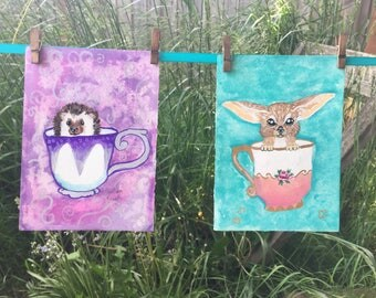 Tea cup animals (set)