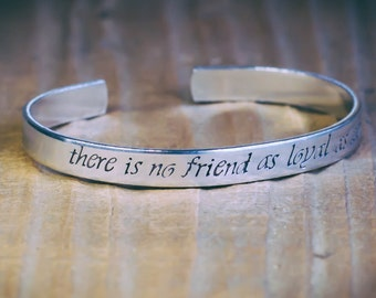 There Is No Friend As Loyal As A Book / Ernest Hemingway / Inspirational Quote Jewelry / Book Lover's Gift / Literary Jewelry