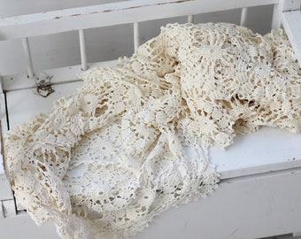 Antique Lace, Vintage Lace, Layering, Photo Prop, Photography prop, Lace Layers, Crochet Layers, Vintage Crochet dollies